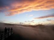 Sulphur clouds at sunset