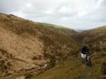 Climbing to Sourton from Meldon weir